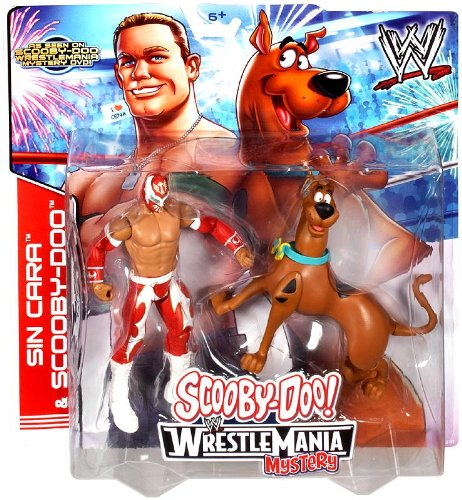 Mattel WWE Wrestling Scooby-Doo WrestleMania Mystery Action Figure 2-Pack Sin Cara & Scooby-Doo by WWE