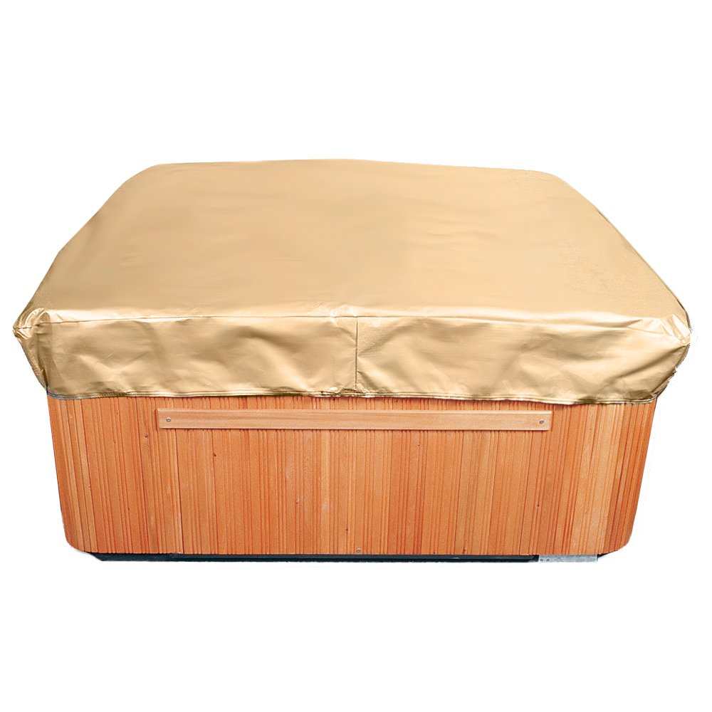 EmpirePatio Square Hot Tub Covers Cap 86 in Wide - Nutmeg