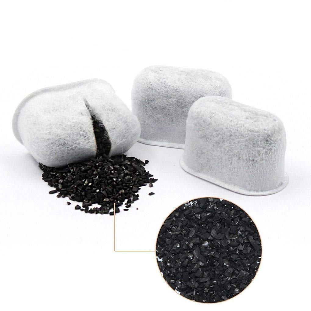 Yangge Yujum 12st Cocoanut Aktivkohlewasserfilter entfernt Verunreinigungen von Fl/üssigkeit f/ür Cuisinart Kaffeemaschinen