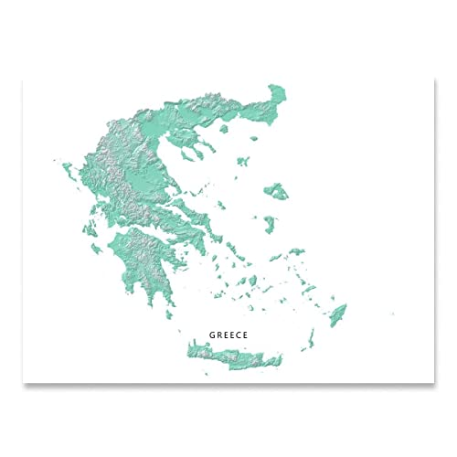 Amazon.com: Greece Map Print, Aqua Landscape Art Poster, Greek ... on map of mouse island, map of sicily, map of ionian greek islands, map of greek islands in english, map of turkey and greek islands, map of islands of greece, map of main land europe, map of isles gk, map of greece with cities, map of the hawaiian islands to print, map of greece showing mount olympus, map of hellenic, map of kalokairi, map of skala greece, map of italy, map of greece with islands, map with towns of evia greece,