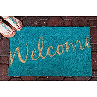 Entryways Hand Woven Coir Welcome Doormat
