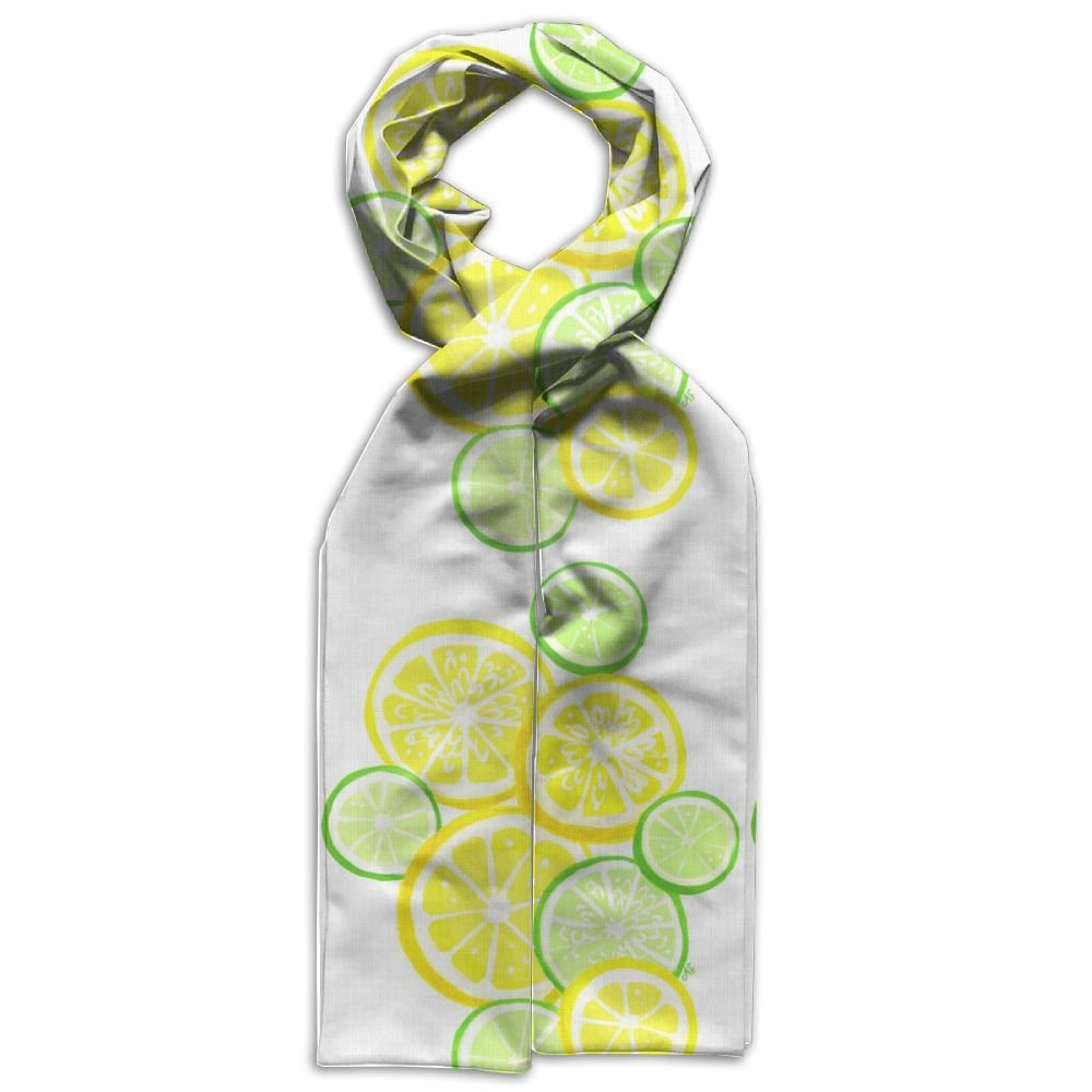 DGYEG44 Lemon Drink Printing Scarf Kids Warm Soft Fashion Scarf Shawl For Autumn Winter