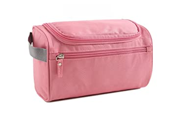 Amazon.com   Toiletry Bag Travel Toiletries Bag Sturdy Hanging Organizer  for Women Men Cosmetic Make up Bag Case (Pink)   Beauty a18d55a4228e3