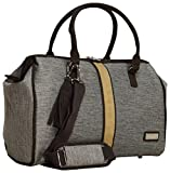 Nicole Miller Cameron Collection Carry On Satchel (Tan)