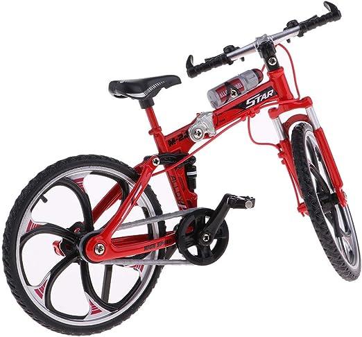 Ogquaton Ciclismo Coleccionable Street Racer Road Mountain Bicicleta Bicicleta Diecast Modelo 1:10 Escala Escaparate Pantalla Decoración de Escritorio Rojo, como se Describe: Amazon.es: Hogar
