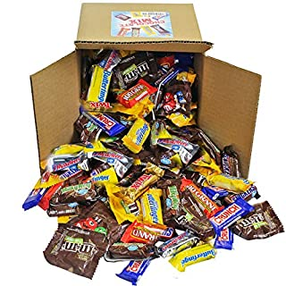 Chocolate Variety Pack - Bulk Candy - Fun Size Candy - All Your Favorite Chocolate Bars In 8x8x7 Bulk Box, 7 LB