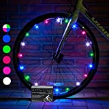 Super Cool LED Bicycle Wheel Lights (1 Tire, Multicolor) Best Xmas Gifts for Kids - Top Cheap Secret Santa X-mas Presents of 2017 Popular Children Bike Toys - Hot Child Bday Party Outdoor Family Fun