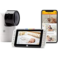 "KODAK Cherish C525 Video Baby Monitor - Tilt/Pan/Zoom Camera, 5"" HD Screen, Hi-res Camera, Remote Zoom, Two-Way Audio, Night-Vision, Long Range, WiFi, Mobile App"
