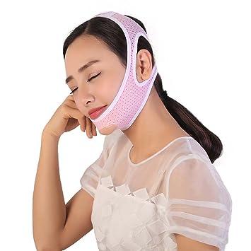 XIAOCHUIJS Señoras Máscara Transpirable Vendaje Para Dormir V Instrumento Facial Reducción De Arrugas Barbilla Fina,