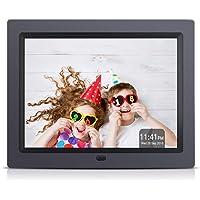 APEMAN Cadre Photo Numérique 8 Pouces 4: 3 écran LCD 1024 * 768, Paquet Cadeau, Vidéo MP3 Lecteur, Horloge Calendrier, Prise en Charge de la Carte SD USB, avec Télécommande
