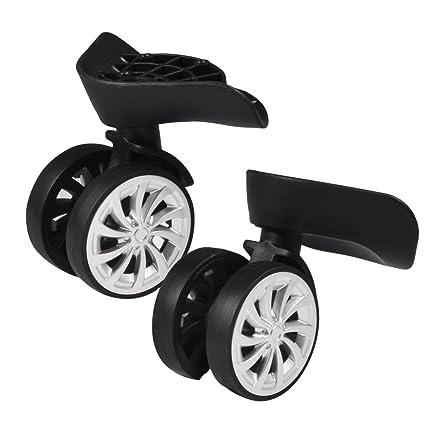 Rueda Giratoria (goma, equipaje maleta ruedas pivotantes reemplazo 55 mm ruedas para carrito –