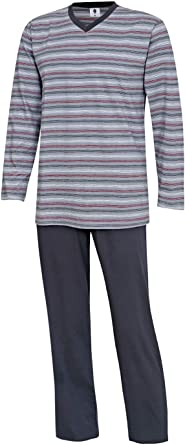 Conjunto de pijama largo para hombre, tallas M, L, XL, XXL, 3XL