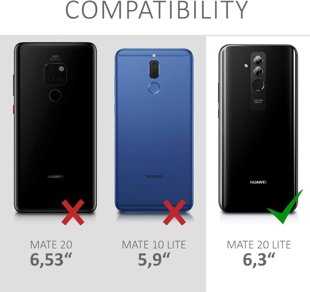 kwmobile Funda para Huawei Mate 20 Lite Carcasa de TPU para m/óvil y dise/ño de Azulejos en Azul//Rojo//marr/ón Claro