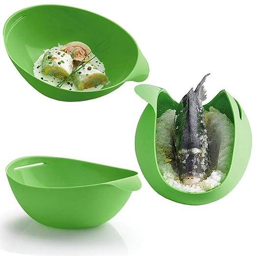 Cocina de silicona horno microondas verduras huevo pescado vapor ...