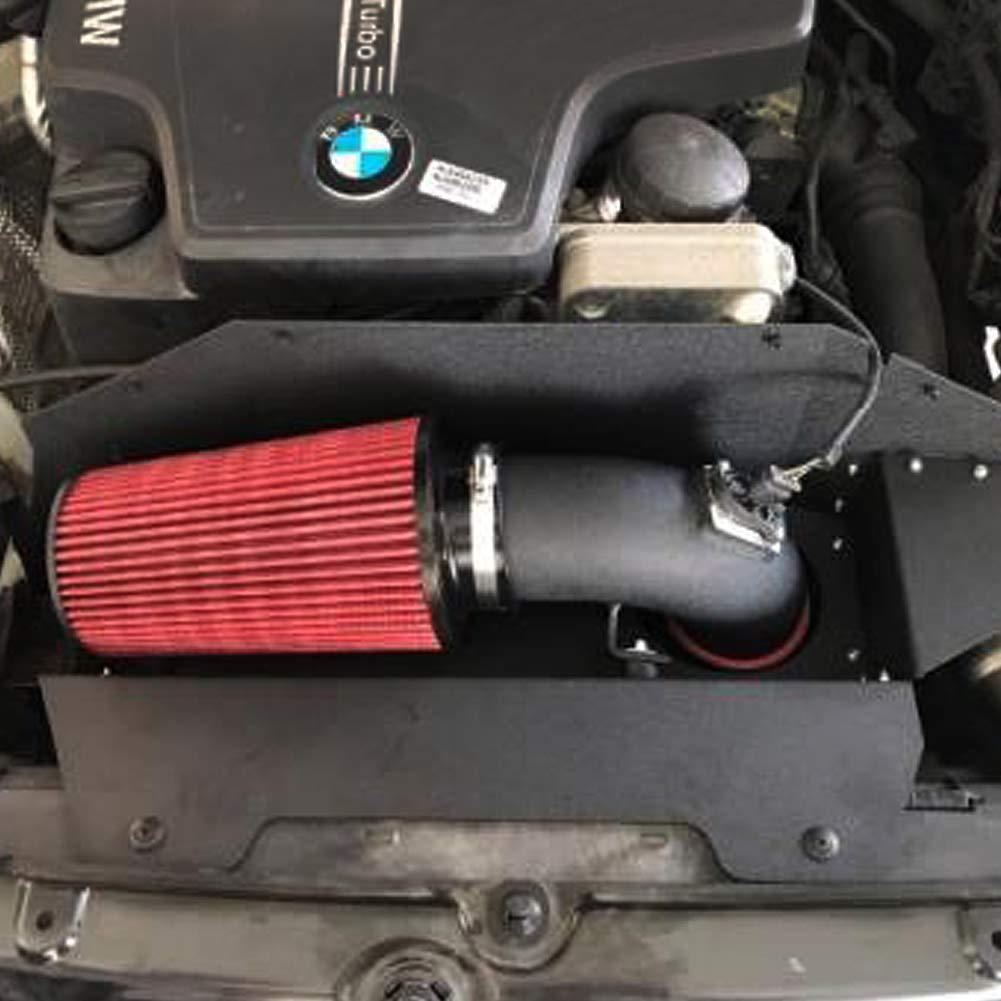 BAFAI Short Ram Air Intake Kit for BMW 320i 328i N20 N26 with Air Filter Auto Air Intake Hose Black Pipe Heat Shield Box by BAFAI