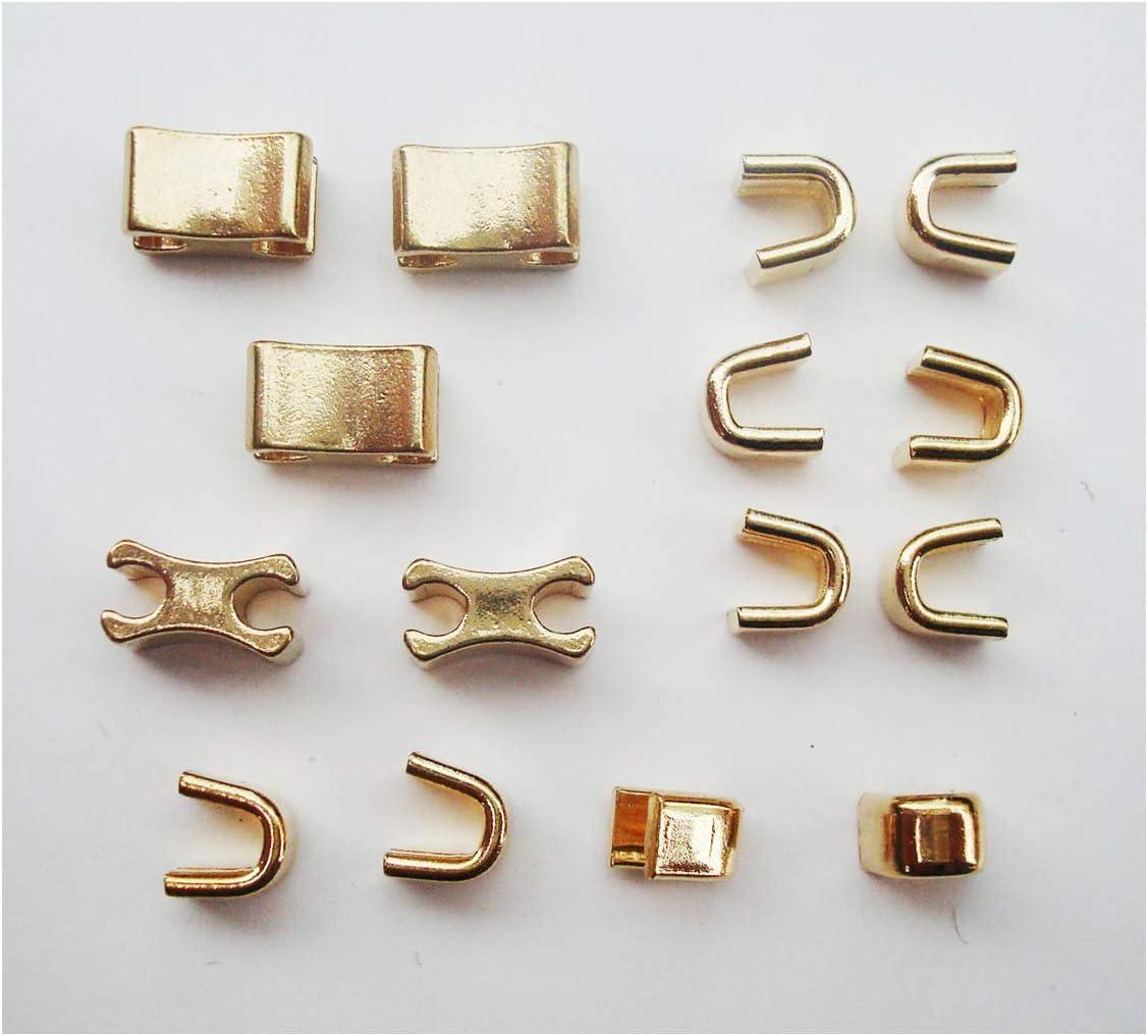 Zipper slider retenedor #10 Cremallera de laton macizo tope superior e inferior deje oro cremallera kit de reparacion