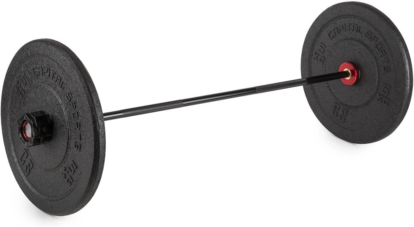 122 cm de Largo, 2.4 kg de Peso, Entrenamiento introducci/ón Fitness y Fuerza CapitalSports Capital Sports Barbini Barra de Pesas para ni/ños