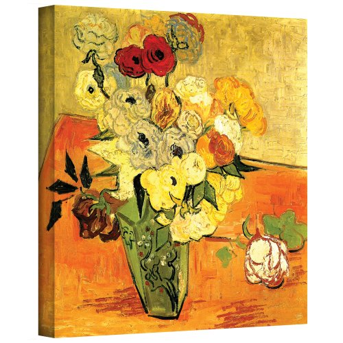 Art Wall Japanese Vase with Roses and Anemones by Vincent...