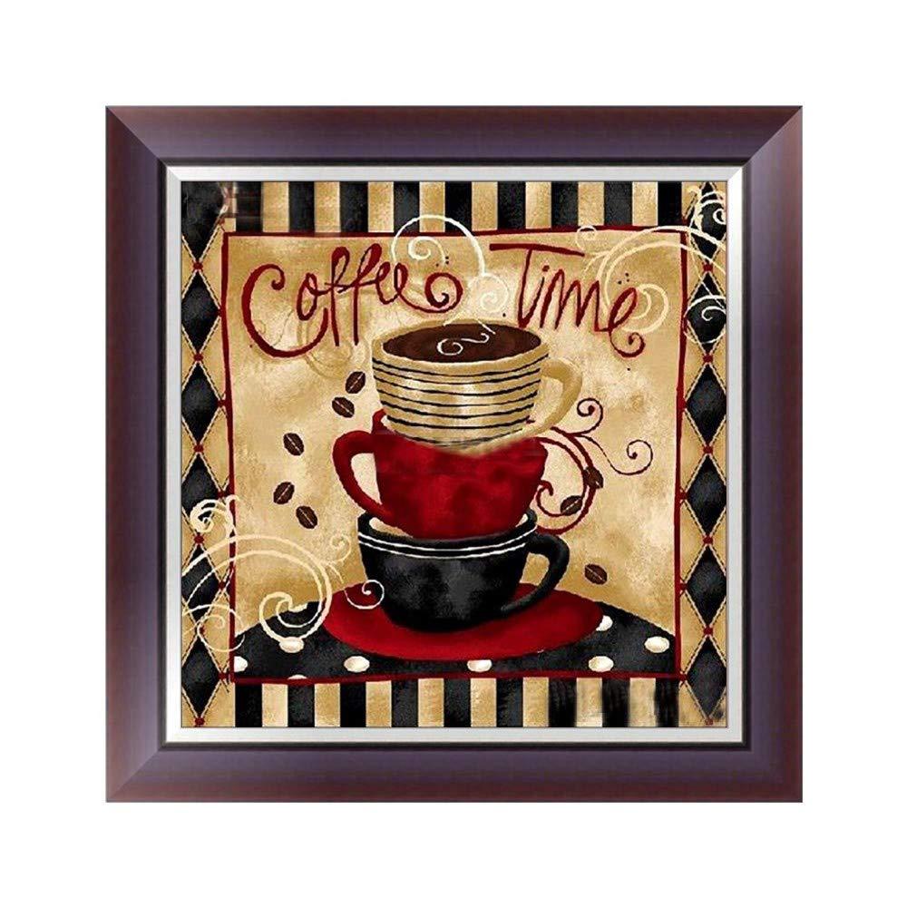 Quaanti 5D DIY Diamond Painting Coffee Cup Pattern Diamond Embroidery Needlework Cross Stitch Full Rhinestone Mosaic Home Decoration Multicolor