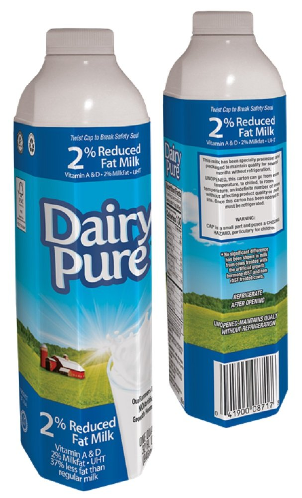 Dairy Pure Shelf Stable 2% Milk, 32oz - 6 Count