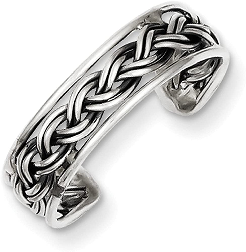 Lex /& Lu Sterling Silver Antiqued Toe Ring LAL22271