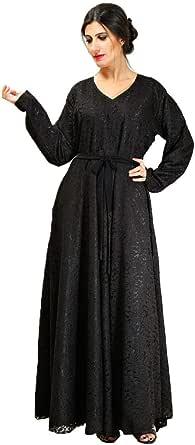 Larimar Black Casual Abaya For Women
