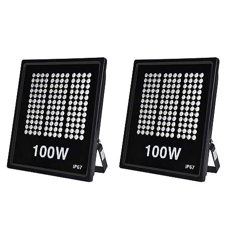 Ankishi Focos LED Exterior 2 Pack 100W, Proyector Reflector de ...
