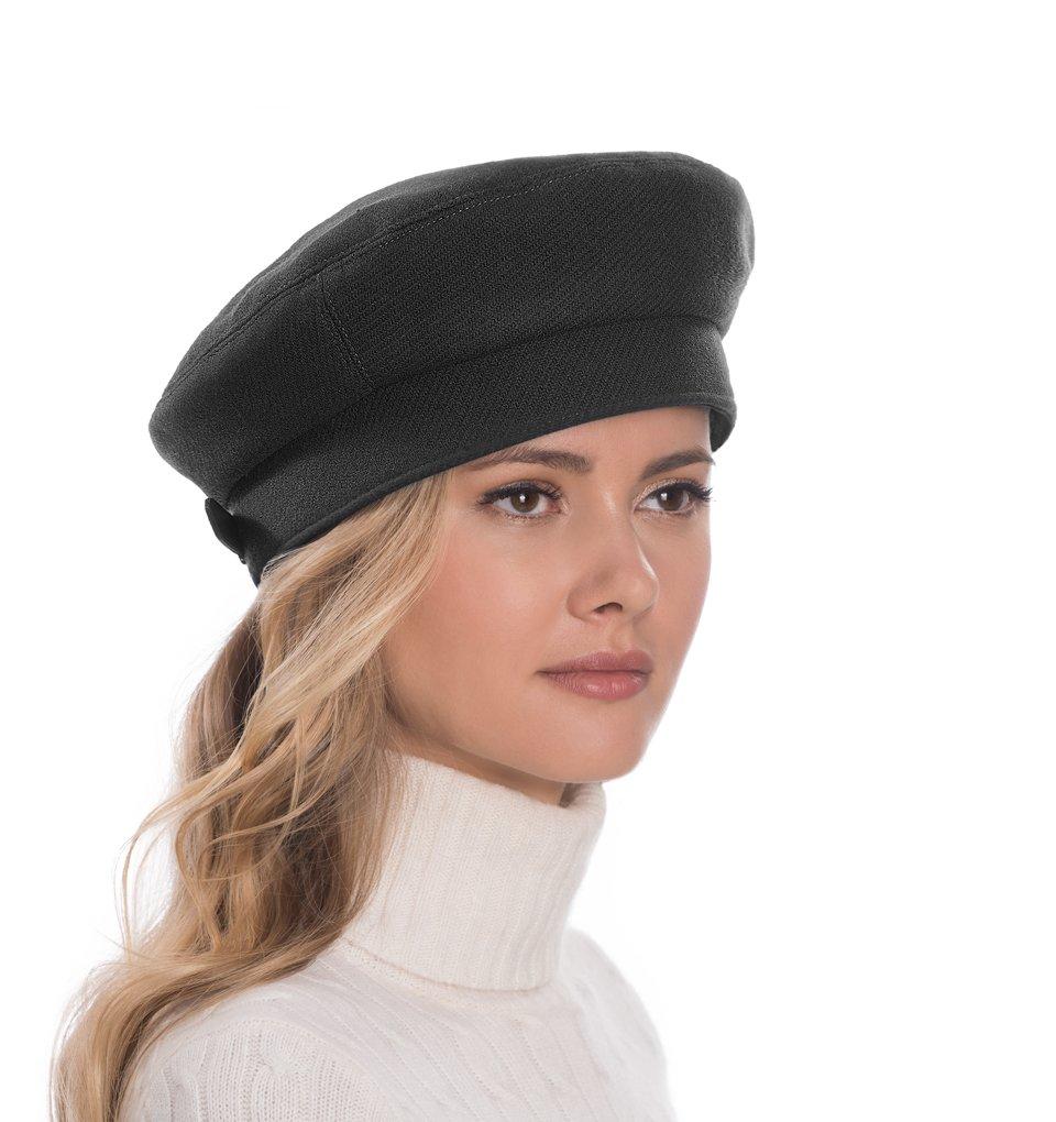 Eric Javits Luxury Fashion Designer Women's Headwear Hat - Bachi Beret - Black by Eric Javits
