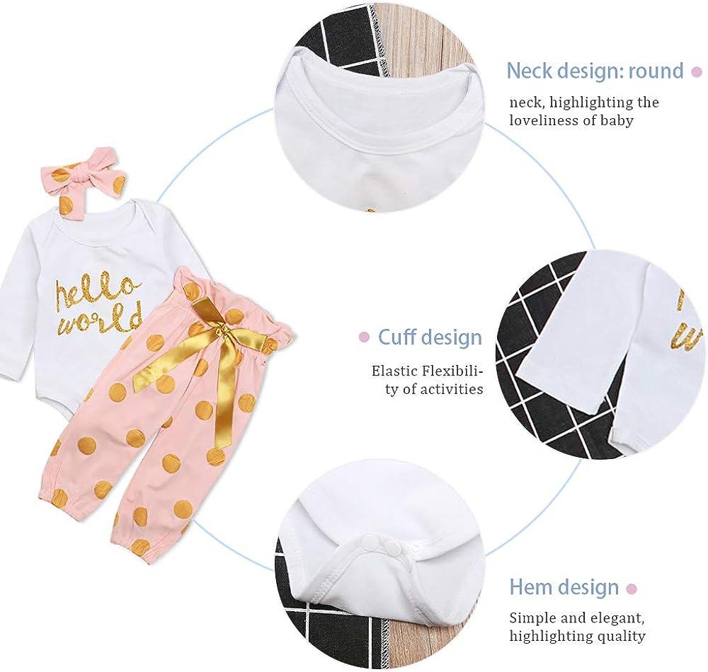 Pantaloni Abiti Set 4pcs Prima Infanzia Abbigliamento Yilaku Bambina Completini e Coordinati Neonata Neonato Pigiami Due Pezzi Top