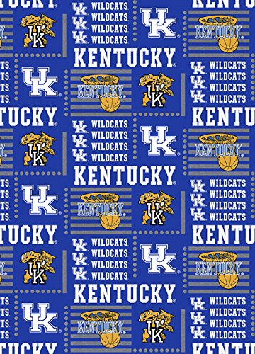 Kentucky Wildcats Fabric - KENTUCKY WILDCATS COTTON FABRIC-NEWEST DESIGN-OFFICIALLY LICENSED