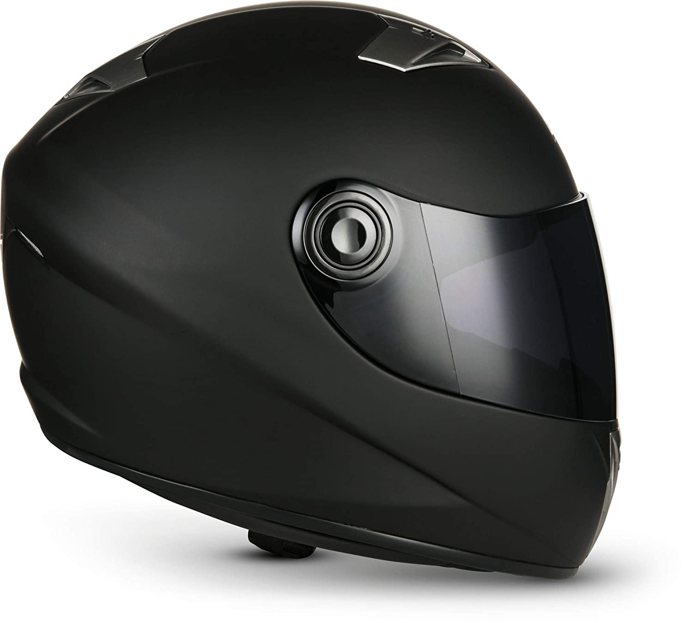 SOXON ST-550 Fighter /· Urban Motorrad-Helm Scooter-Helm Integral-Helm Sturz-Helm Sport Helmet Roller-Helm Cruiser /· ECE zertifiziert /· inkl Stofftragetasche /· Schwarz /· L 59-60cm Sonnenvisier /· inkl