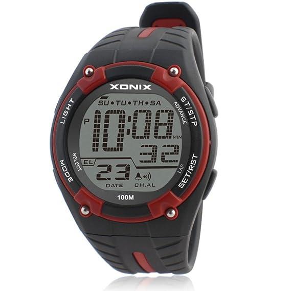 Moda impermeable reloj atmosférico deportes al aire libre de la natación/digital reloj de men-F: Amazon.es: Relojes