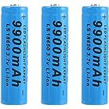 Bateria 18650 Recargable Pilas 3.7V 9900mAh 18650 Recargables Batería Li-Ion De Potencia Pilas Recargables para Linterna…