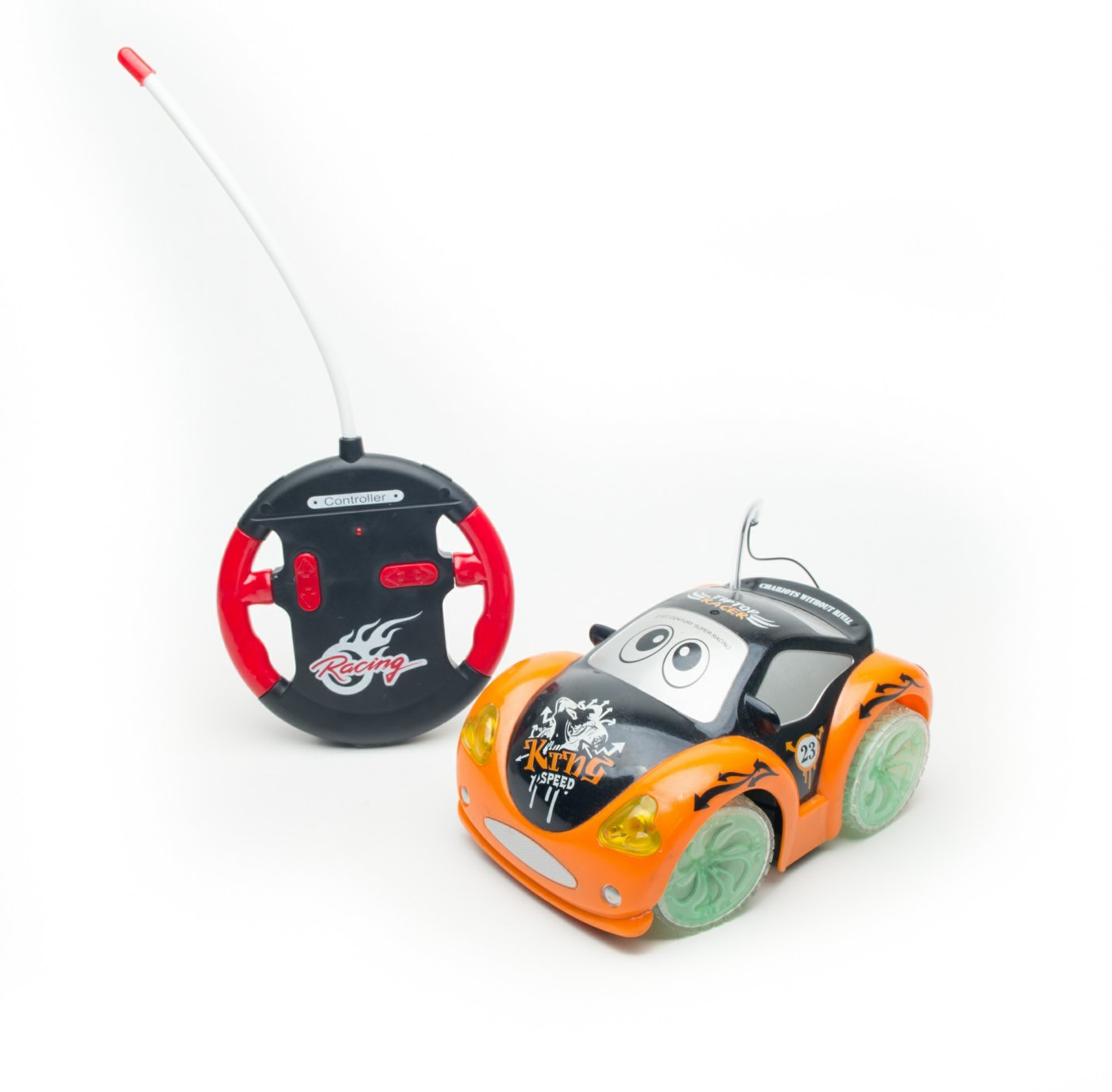 Music /& Transparent Wheel Toddler Remote Control Car . New Age 4 Channel Remote Control Cartoon Car with Flashing light