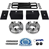 """Supreme Suspensions - Full Lift Kit for 2005-2020 Nissan Frontier 3"""" Front Lift Strut Spacers + 3"""" Rear Lift Blocks + Square"""