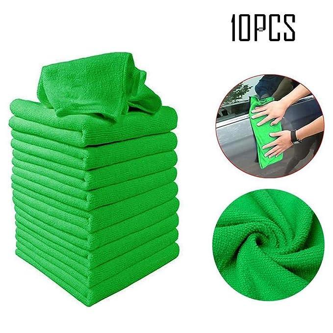 28 opinioni per vobome 10 Pezzi di Pulizia Auto Set di Asciugamani Mini Panno di Pulizia in