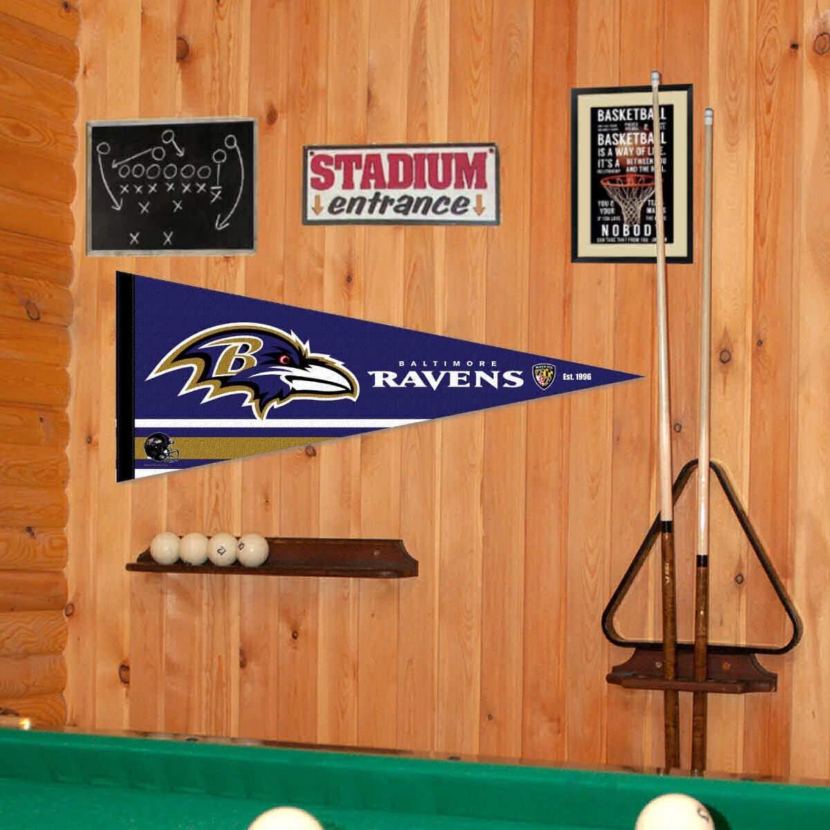 WinCraft Baltimore Ravens Pennant Banner Flag