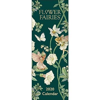 Calendario de pared delgado de hadas de flores 2020: Amazon ...