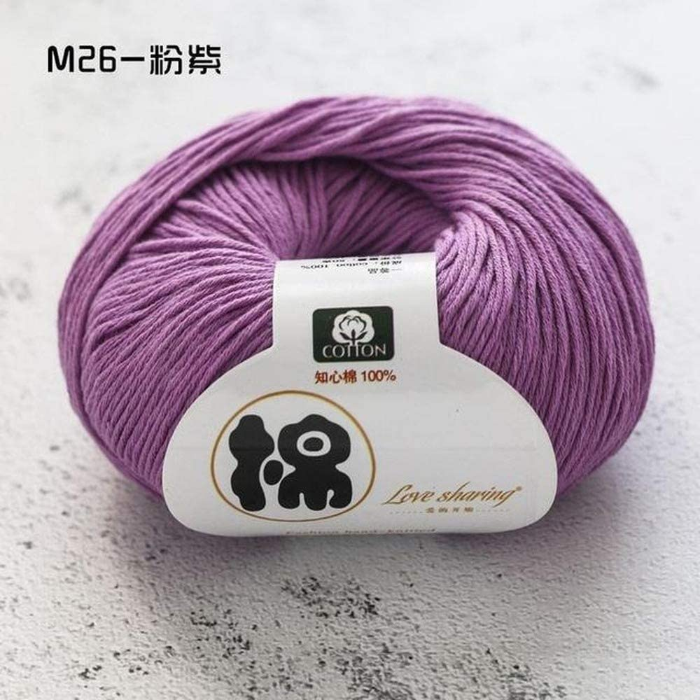 Generies 50glot 100% Baby Organic Cotton Thick Yarn For