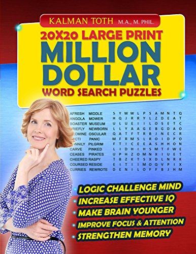 20x20 Large Print Million Dollar Word Search - Word Crossword Dictionary Million