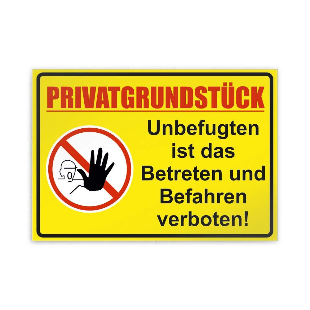 30 x 21cm Parkplatzschild Alu Verbund kein PVC! Kiwistar Privatgrundst/ück Unbefugten ist Das Betreten und Befahren verboten