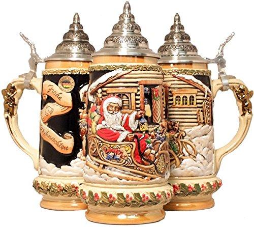 Santa's Sleigh LE German Christmas Beer Stein .5L One New Mug Made in Germany by King-Werks