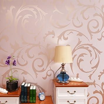 HANMERO Papier Peint Design Baroque Européen Classique Simple Acanthe  Feuille Vinyle 3D Pour Salon TV Backdrop