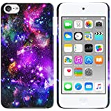 FINCIBO iPod Touch 5 6 Case, Back Cover Hard Plastic Protector Case Stylish Design For Apple iPod Touch 5 6th Generation - Purple Marvel Nebula Galaxy