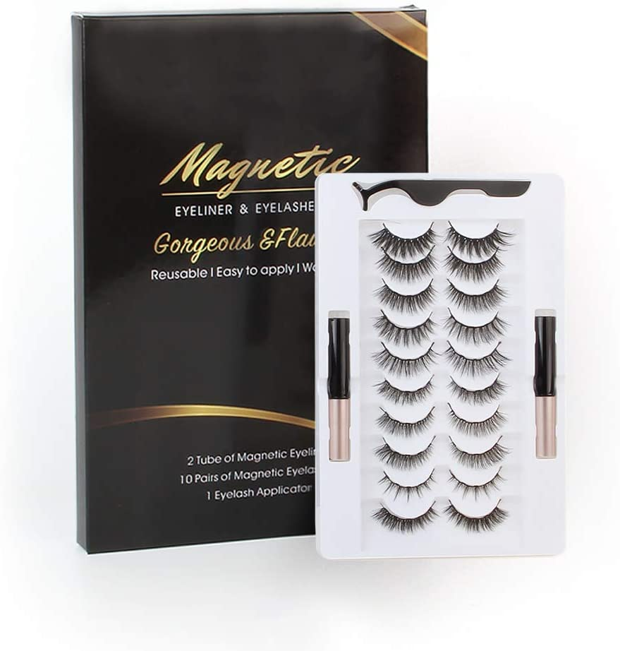 Lovrio 10 Pairs Magnetic Eyelashes Kit with Eyeliners WAS £22.99 NOW £12.64 w/code 5UB4E4CY + 5% voucher @ Amazon