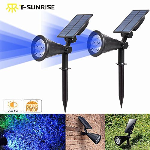 Blue Solar Landscape Lights