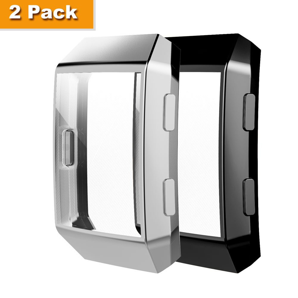 Fitbit Ionic Case, Belyoung TPU All-around Full Front Screen Protective Case for Fitbit Ionic Smart Watch 2pcs