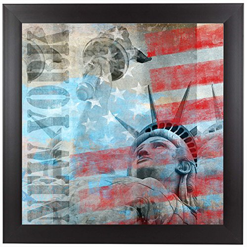 Americanflat Black Frame Print - Statue Of Liberty 2 - Patriotic wall art