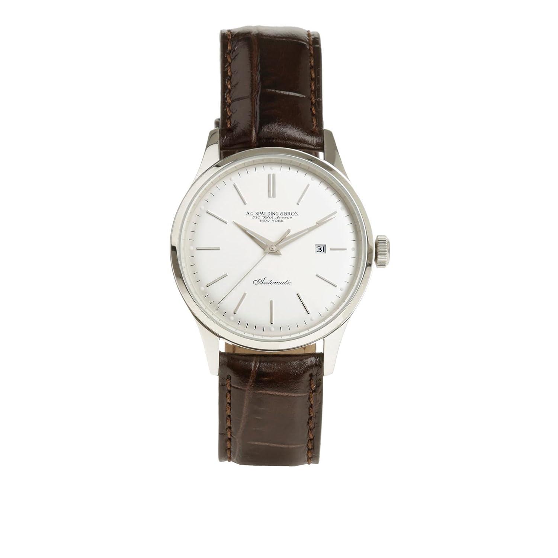 Orologio da polso con cinturino in pelle | Spalding & Bros. | 174336-Argento
