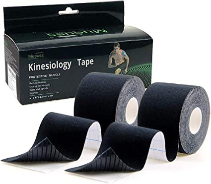 Muscles,Elbow Knee /& Shoulder FDA Approvaed MUEUSS Kinesiology Tape Precut Sports Tape Hypoallergenic Waterproof Breathable-Muscle Tape for Recovery Sports Athletic Physio Therapy Injury-Support for Ankle